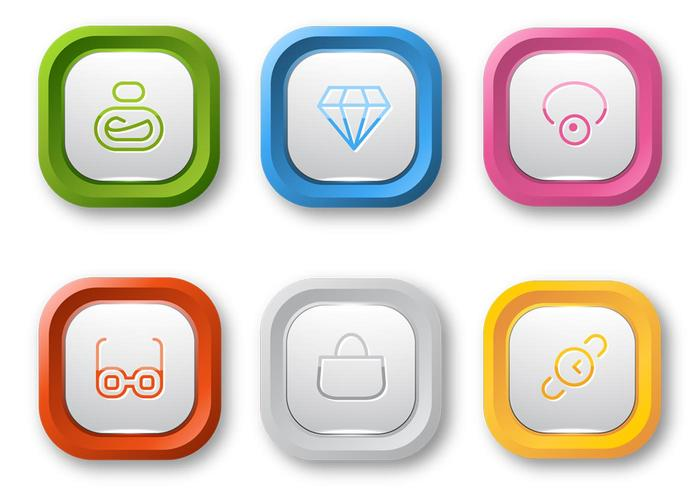 Colorful Web Button PSD Pack