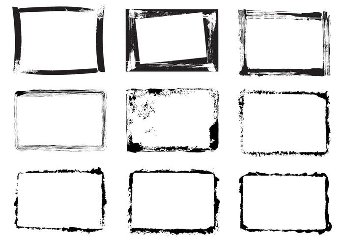 Grunge Frame Brushes and PSD Pack