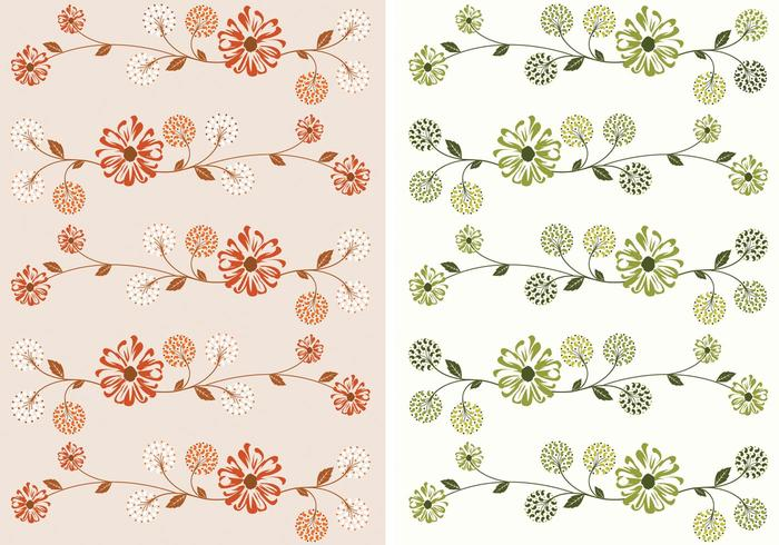 Vining floral wallpaper psd pack