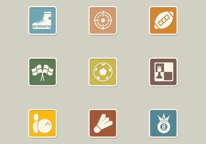 Retro Sport Icon PSD Pack