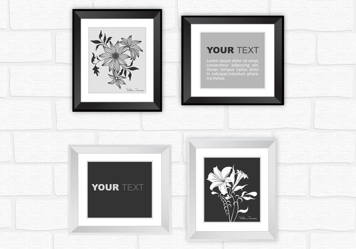 Modern Silver and Black Frame PSD Pack - Free Photoshop Brushes at ...