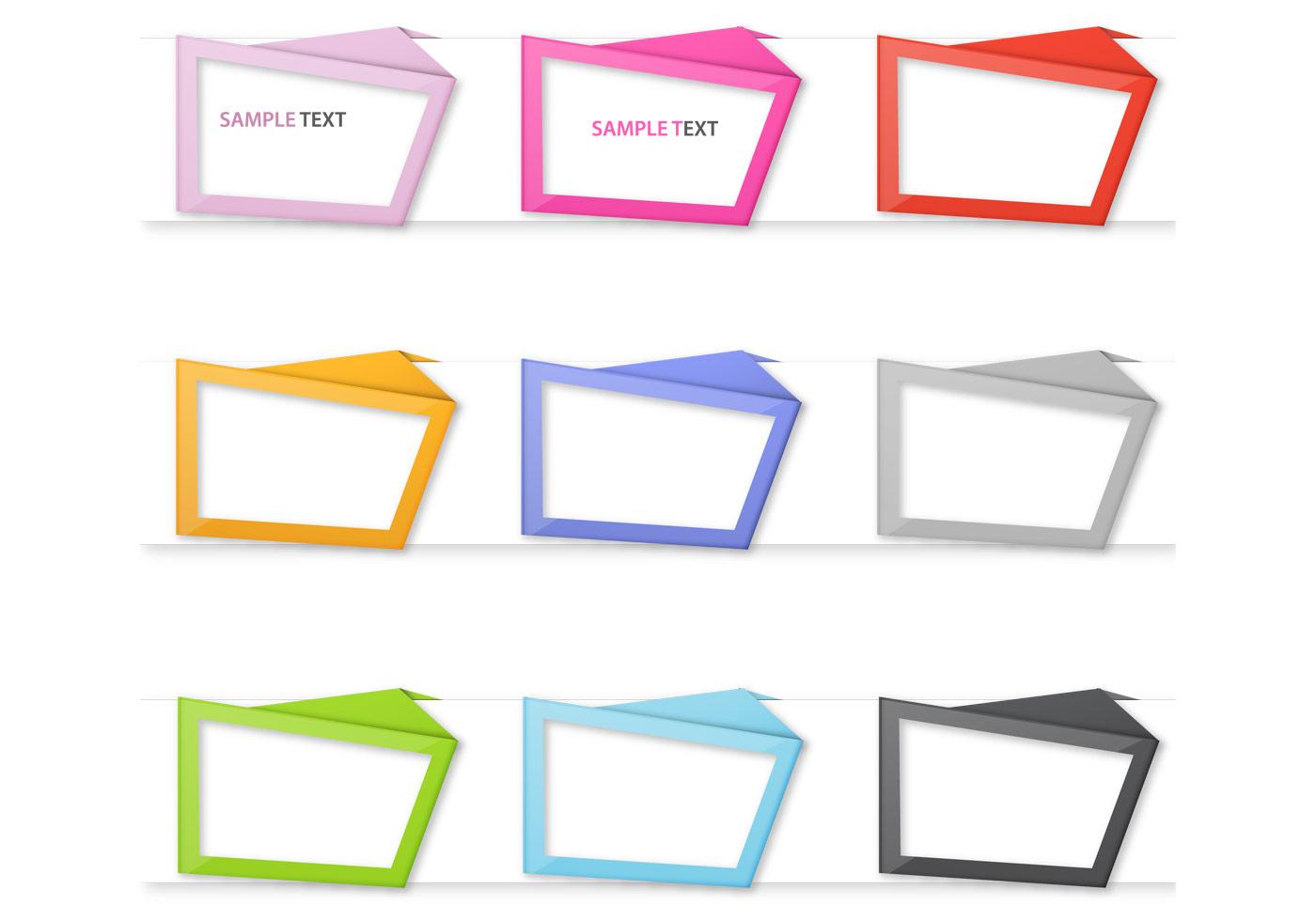 Origami Rahmen PSD Pack - Kostenlose Photoshop-Pinsel bei Brusheezy!