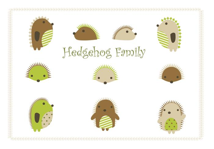 Cartoon Igel PSD Familie