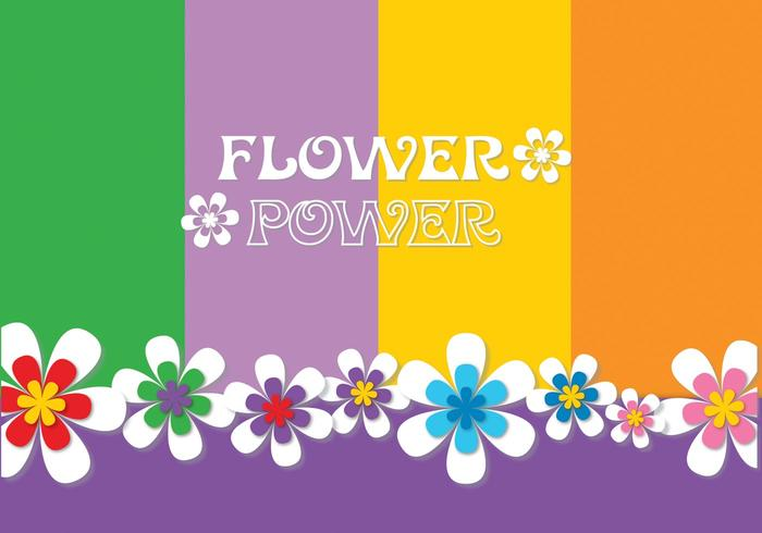 Flower power background psd