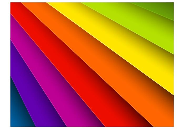 Bright Rainbow Background PSD