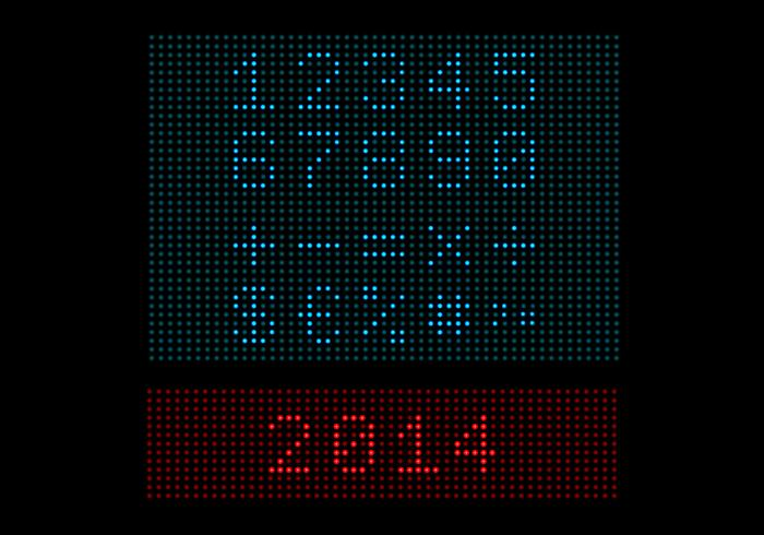 Digitale LED Light Number PSD Pack