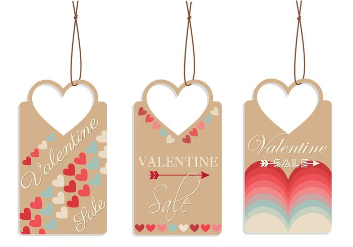 Valentinstag Tag PSD Pack