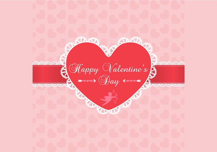 Lace Valentine's Day Background PSD