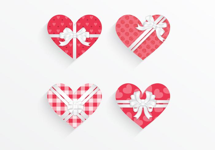 Gepatenteerde Heart Gift Box PSD Pack
