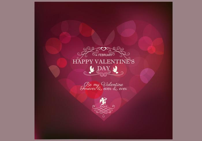 Bokeh Valentine's Day Background PSD