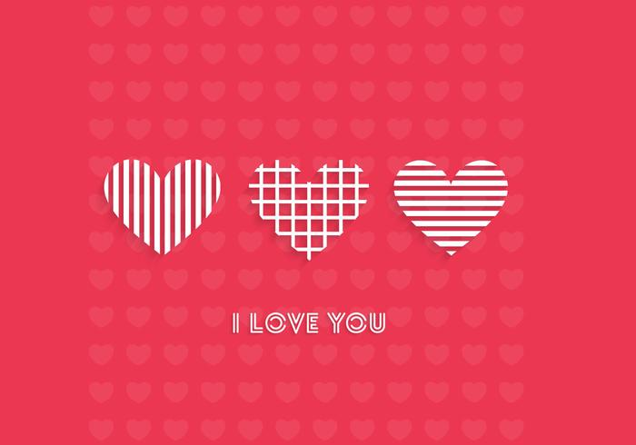 I Love You Wallpaper PSD