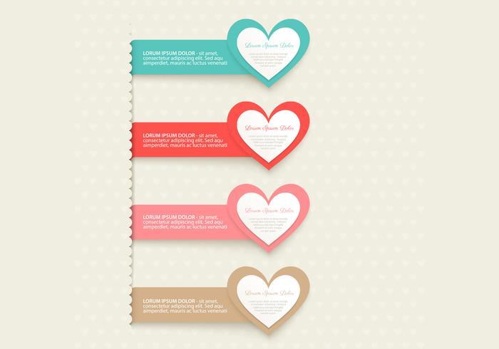 Pacote PSD do Heart Banner
