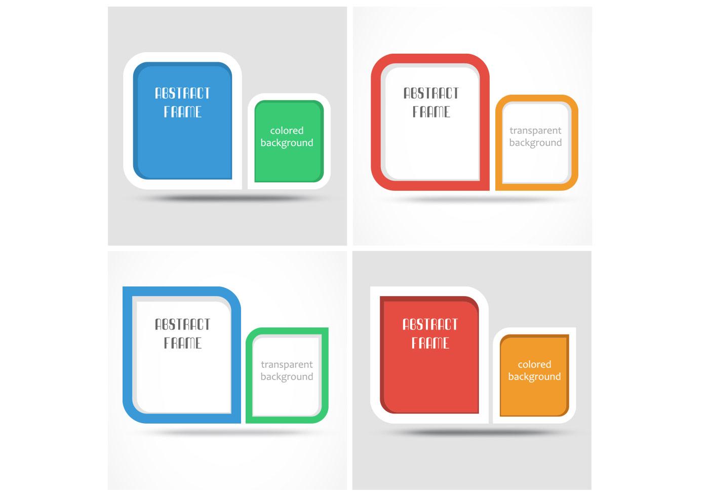 Moderner Rahmen Hintergrund PSD Pack - Kostenlose Photoshop-Pinsel ...