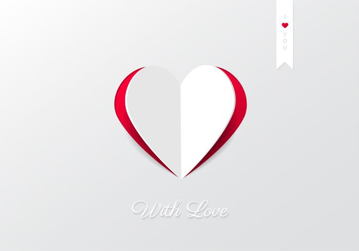 Cutout Heart Background PSD