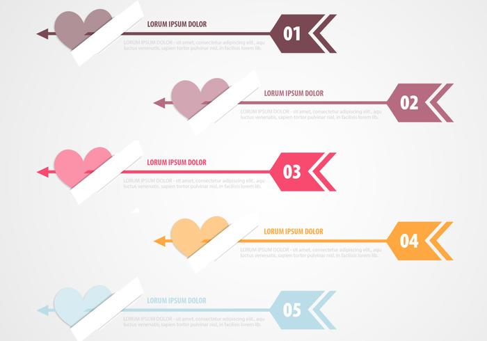 Cupid's Arrow Banner Paquete PSD