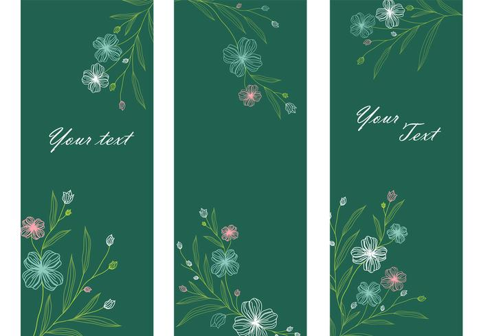 Emerald Floral Banner Paquete PSD