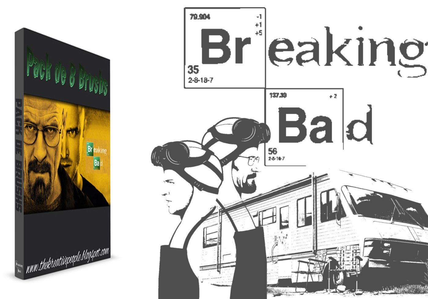 Brushes For Character Design : Breaking bad character brushes free photoshop at