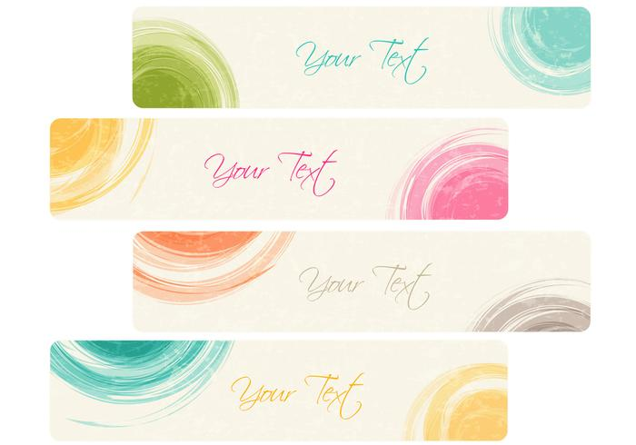 Dry Brushed Banner PSD Pack