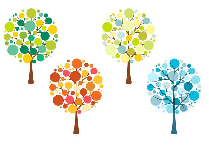 Paquete PSD de árbol estacional