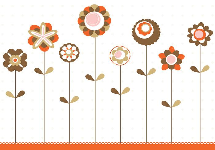 Retro Flower Background PSD