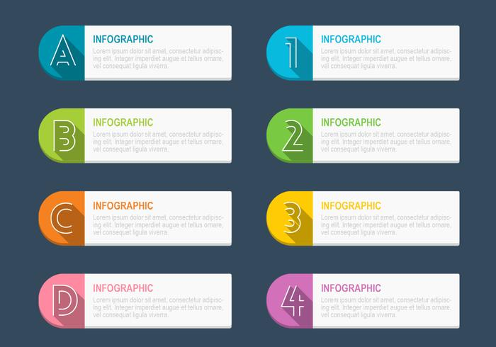Infographic tagg psd pack