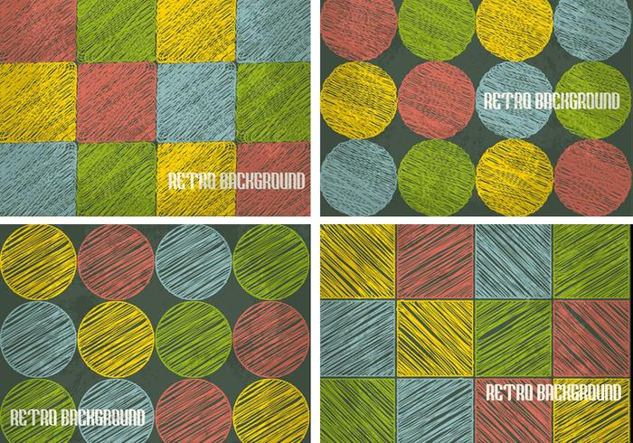 Retro Sketchy Background PSD Pack