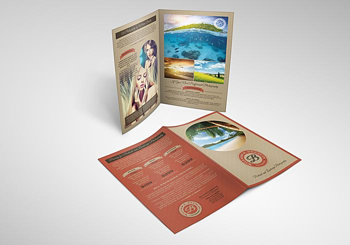 Brochure photographique PSD Template Pack