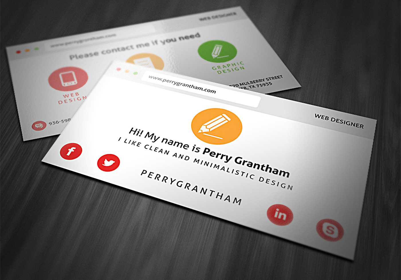 Bright Business Card PSD Template - Free Photoshop Brushes at Brusheezy!