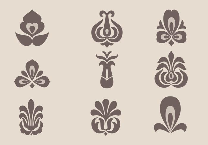 Floral Ornament Brushes Pack