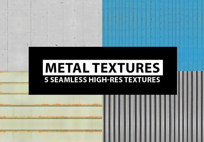 Texturas de metal sem costura