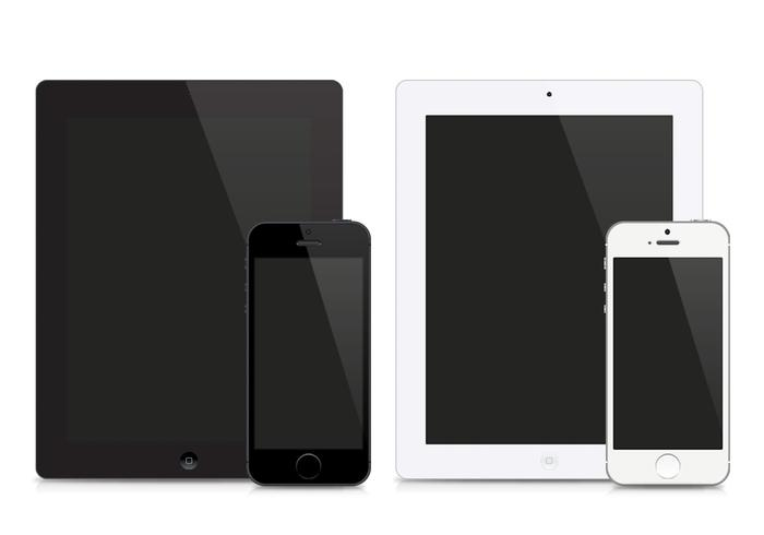 IPad och iPhone PSD