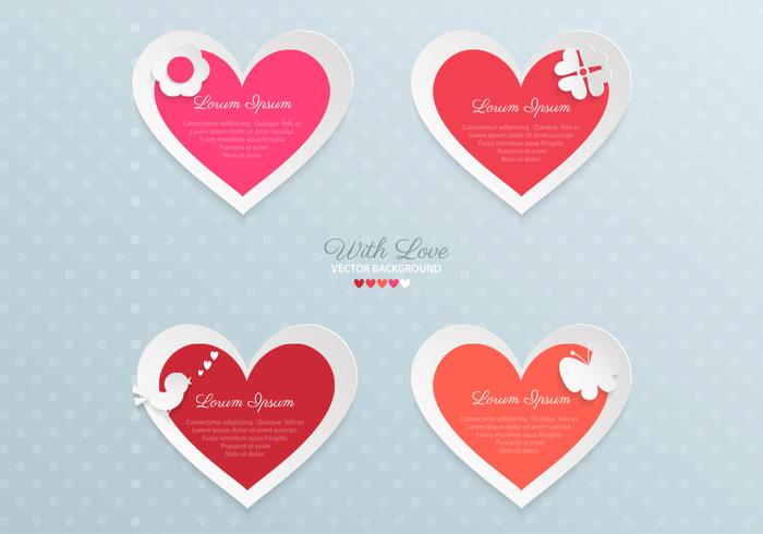 Paper Valentine's Day Heart PSD Pack