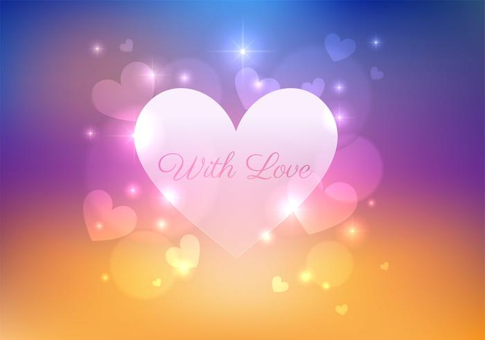 Bokeh Heart PSD Background