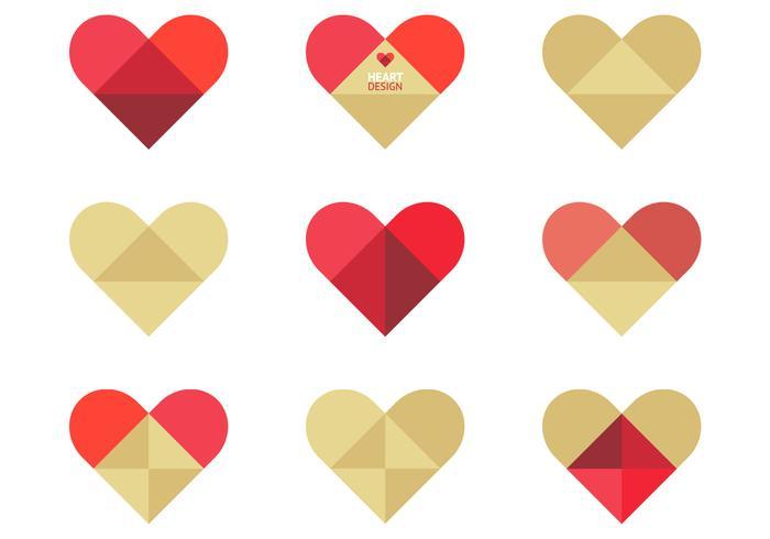 Pacote PSD dobrado do coração