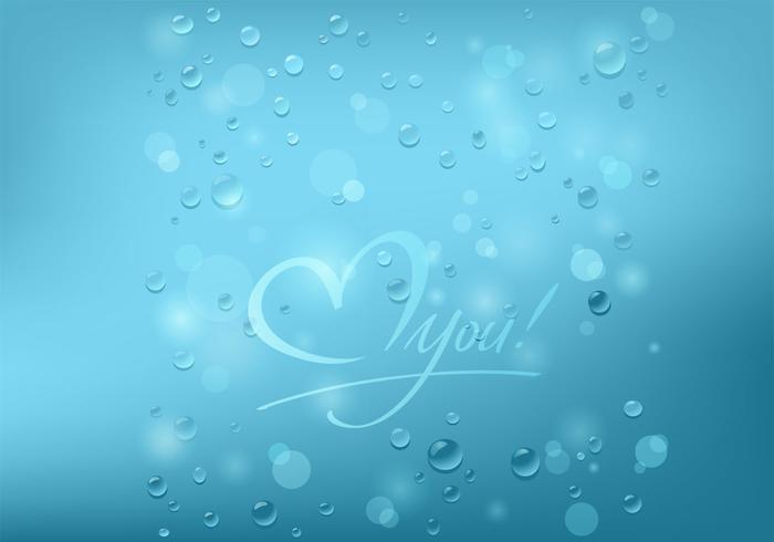 Bubbly Love You Background PSD