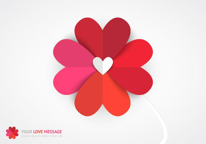Colored Paper Flower Background PSD