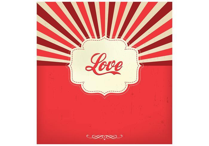Sunburst love background
