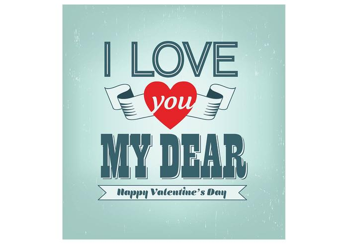 Love You Dear Valentine's Day Background