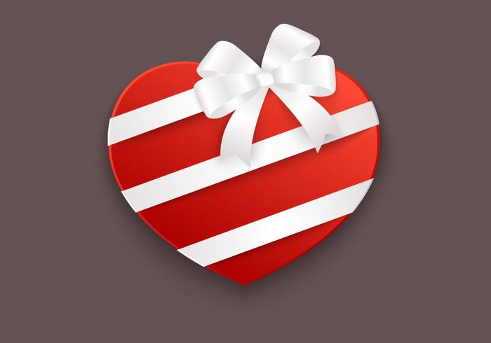 Heart Box PSD Background