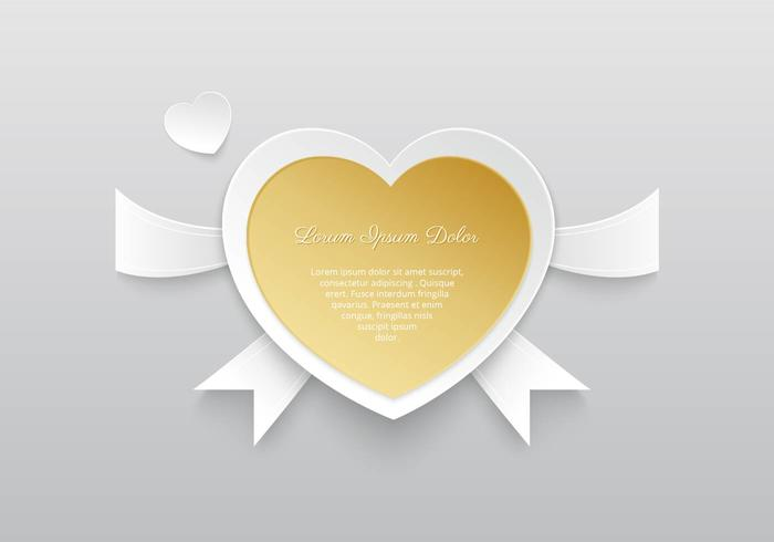 Golden Heart PSD Background