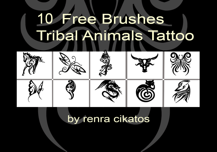 Tribale Dieren Tattoo Borstels