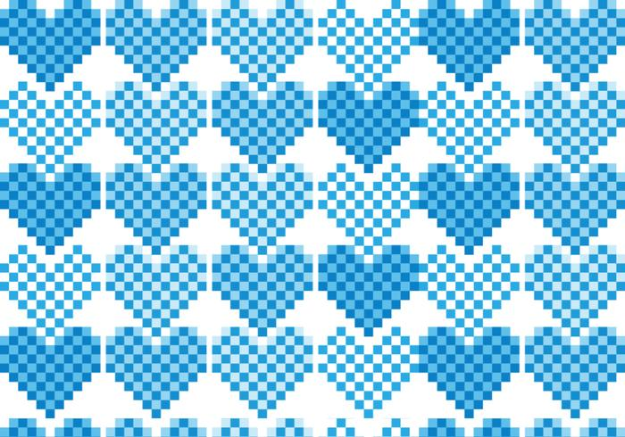 Pack Pixel Heart Pattern