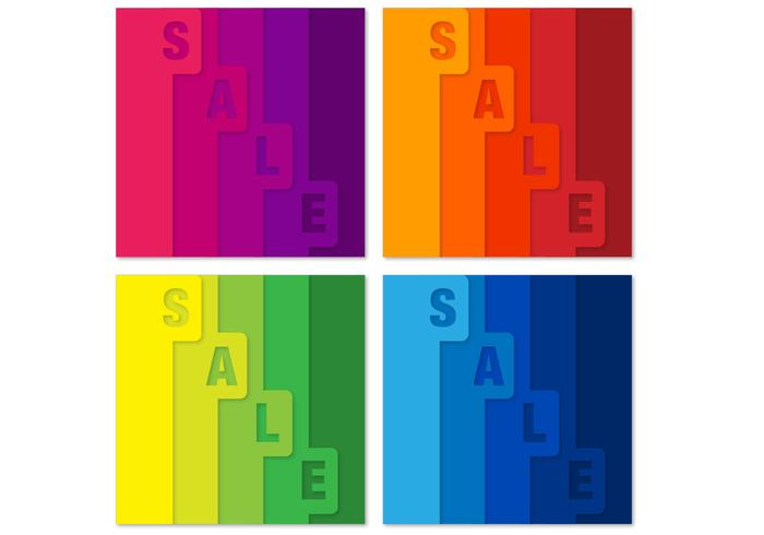 Bright Tabbed Sale PSD Backgrounds
