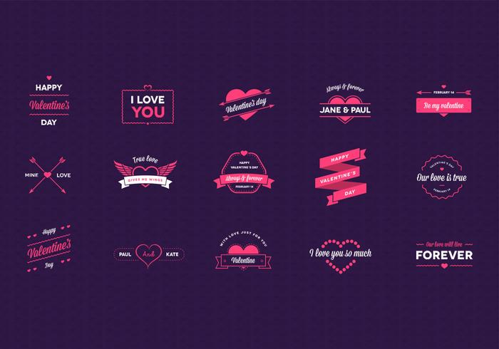 Pack PSD pour badge de la Saint-Valentin