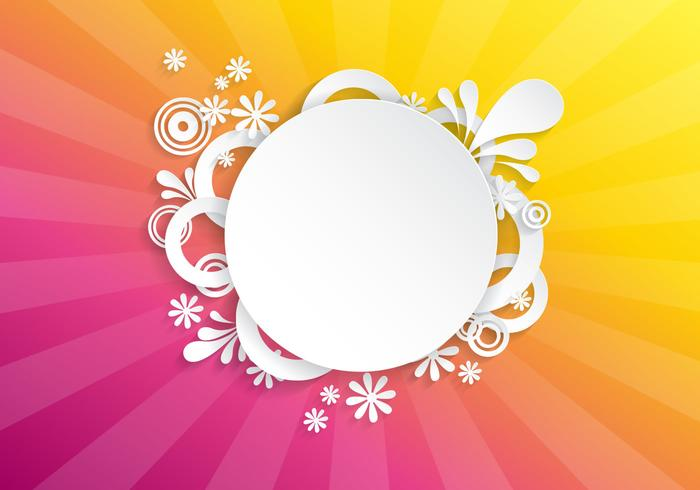 Bright Floral Sunburst PSD Background