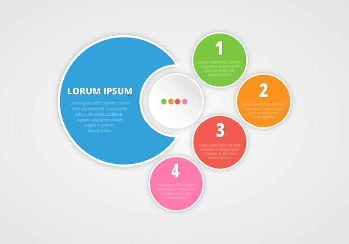 Numbered Infographic PSD Background