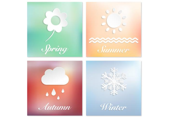 Four Seasons PSD Background