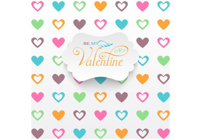 Heart Filled Valentine's Day PSD Background