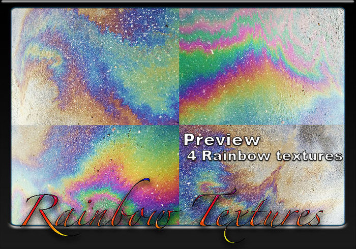 4 textures arc-en-ciel