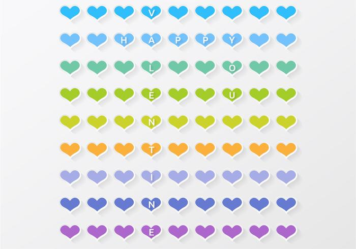 Colorful Heart Valentine PSD Background